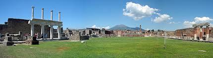 Pompeii Panorama with view at Mt. Vesuvius