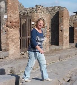 Jeannette Vlietstra englishspeaking personal tour guide in Pompeii