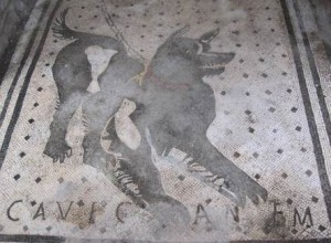 Cave canum Pas op voor de hond mozaieken vloer in Pompei